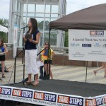 CCFA take steps walk crohn's colitis Renee Chou WRAL emcee stephanie hughes stolen colon ostomy blog