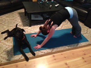 yoga stretching hot poses downward facing dog rylie stephanie hughes stolen colon ostomy crohns blog